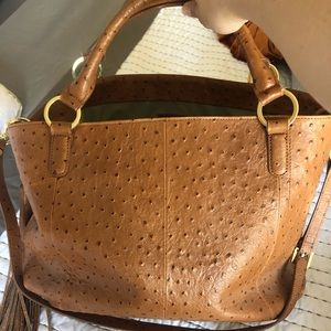 Faux-Ostrich leather bag